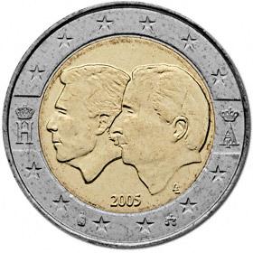 2 Euro Belgien 2005 ökonomische Union