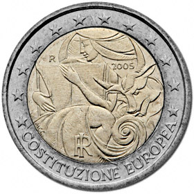 2 Euro Italien 2005 Eu Verfassung