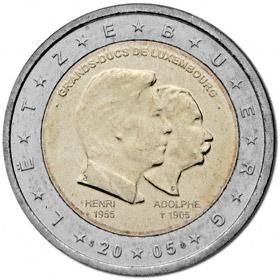 2 Euro Luxemburg 2005 Henri Adolphe