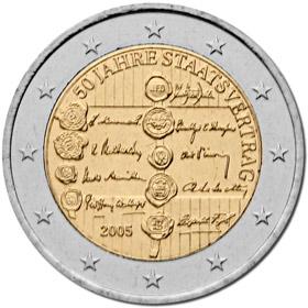 2 Euro österreich 2005 50 Jahre Staatsvertrag