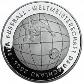 10 Euro Münze Fußball Wm 2006 In Deutschland Ausreise Info